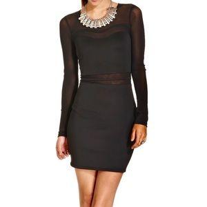 Material Girl Black Mesh Dress